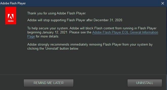 Flash Player Wird Eingestellt